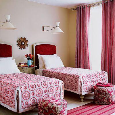 Red & Pink bedroom Twine Interiors