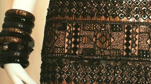YSL beaded african Dress details