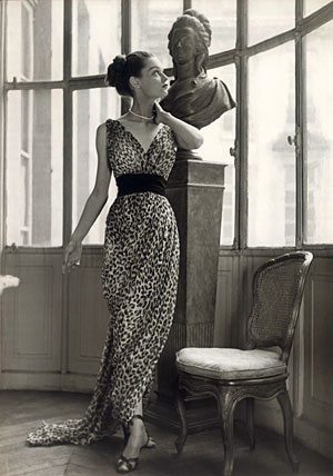 Christain-Dior-Leopard-print-dress-1947