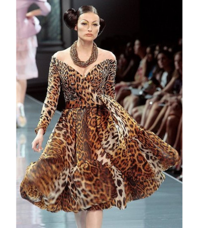 Christian-Dior-couture-animal-print-cocktail-dress 2013