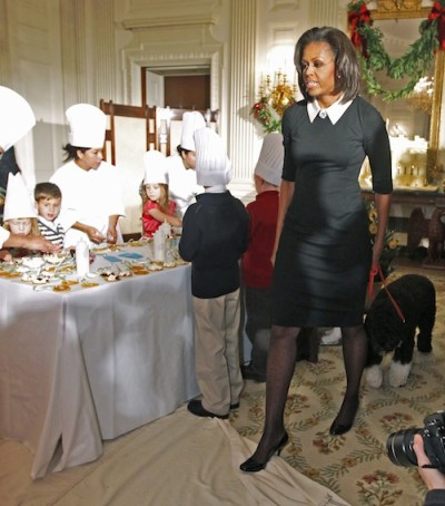 Michelle Obama in Jason Wu schoolgirl dress