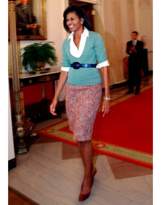 Michelle Obama school girl style