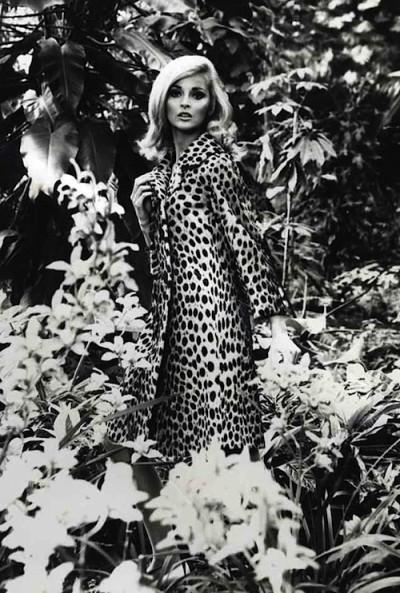 Leopard coat and dress 1960
