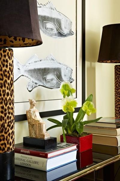Leopard lamps Toronto designer, Anne Hepfer