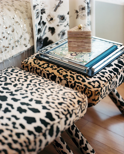 Refresh your decor with leopard prints Leopard print bench