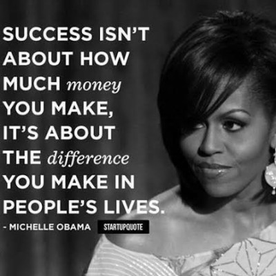 Michelle Obama success quote
