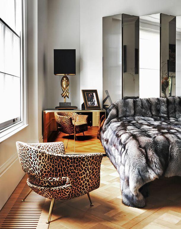 westbourne grove uk leopard fur bedroom splendid
