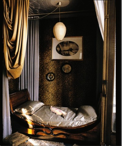 leopard canopy bed