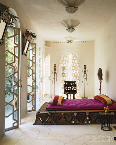 Liza Antique White Panel Bedroom Set: Allure Of Moroccan Styled Interiors