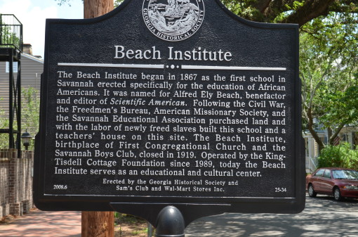 Beach Institue sign