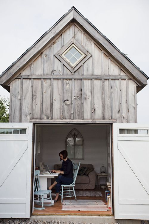 Ideas for a small office space for Outside office shed