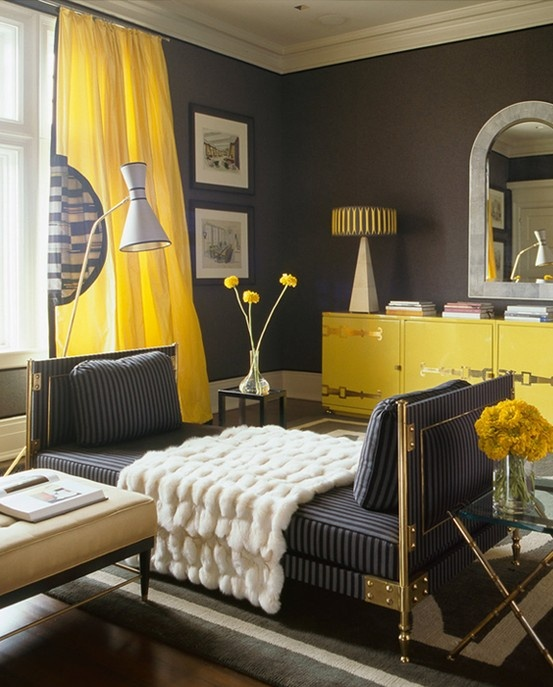 69 Fabulous Gray Living Room Designs To Inspire You: Brilliant Ideas To Decorate With Yellow