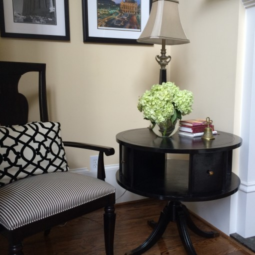 From Drab to Fab – A Hand Me Down Side Table Transformed Made Chic!