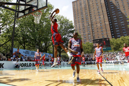 KD at nike-rucker-park tournament