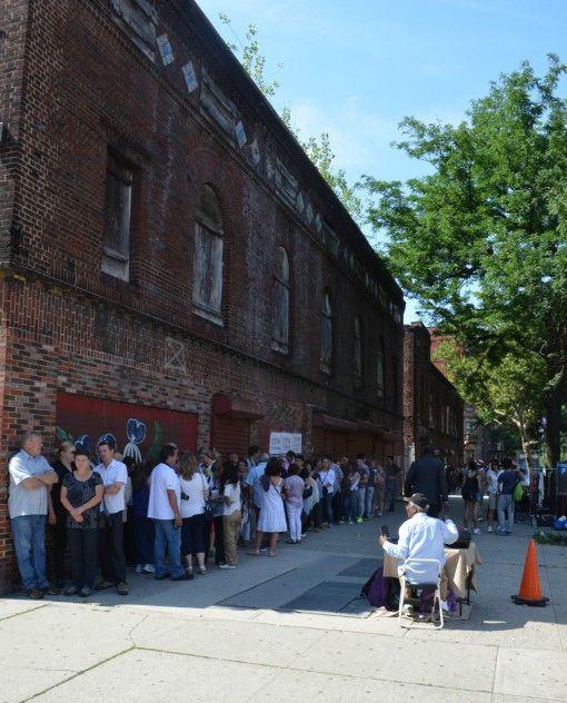 Visitors line for Abyssinianchurch