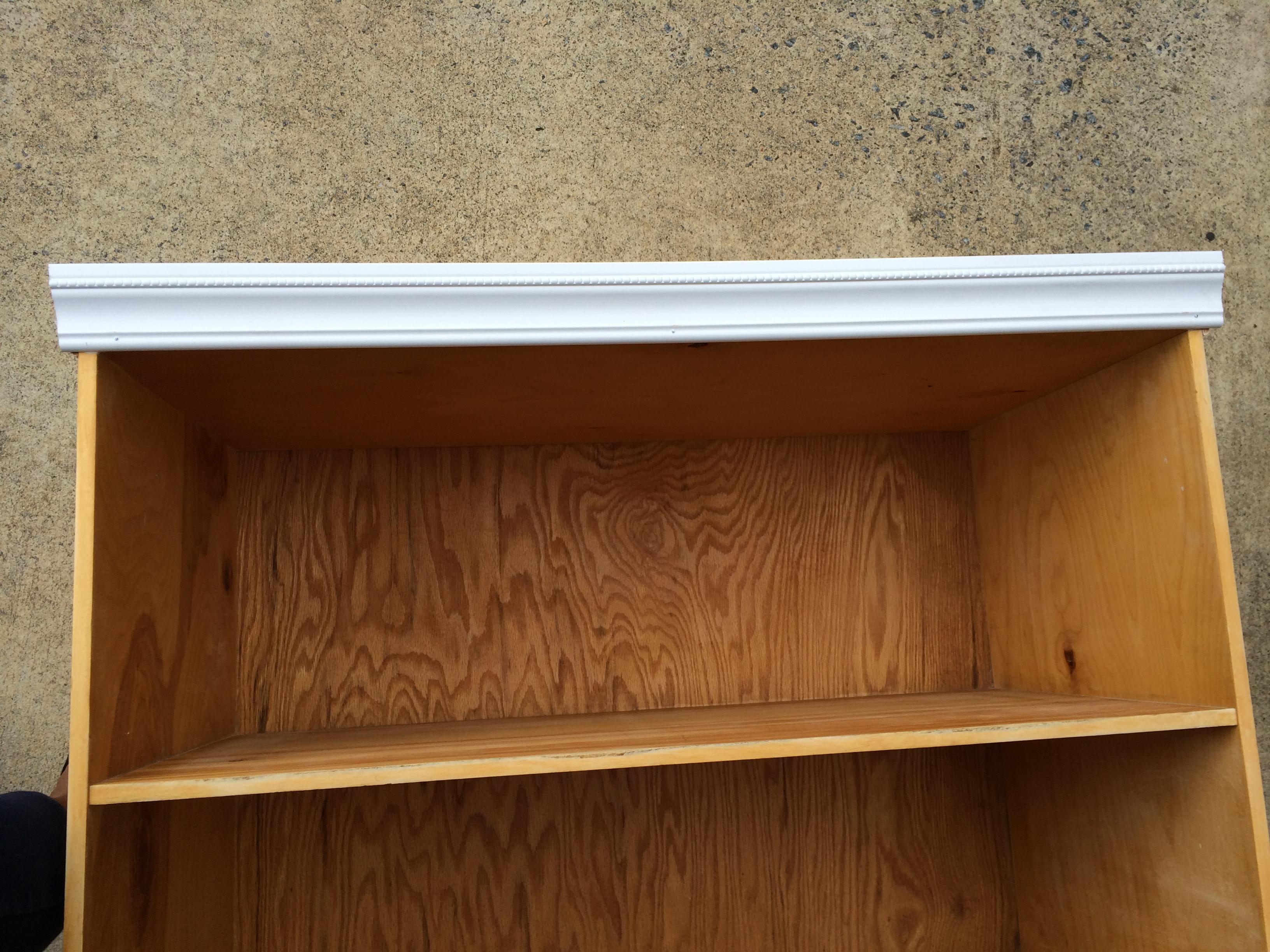 Adding Trim To The Bookcase Top