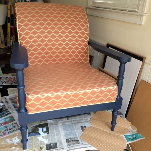 chair j paint w/o uphoolstery