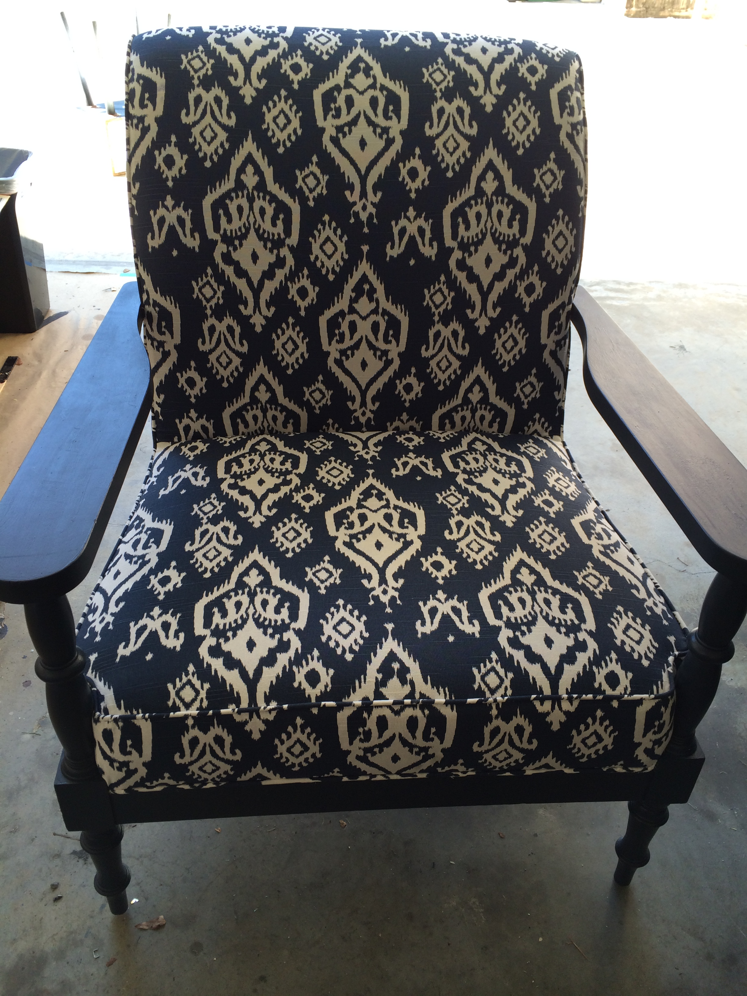 From Drab to Fab Lounge Chair Makeover