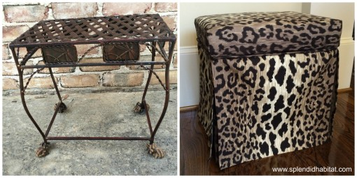 From Drab to Fab: How to Transform A Wire Stool To A Vanity Seat