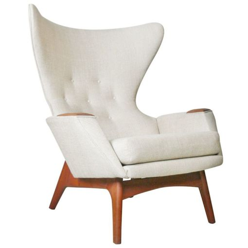 The adrian pearsall wingback for craft associates is in white linen