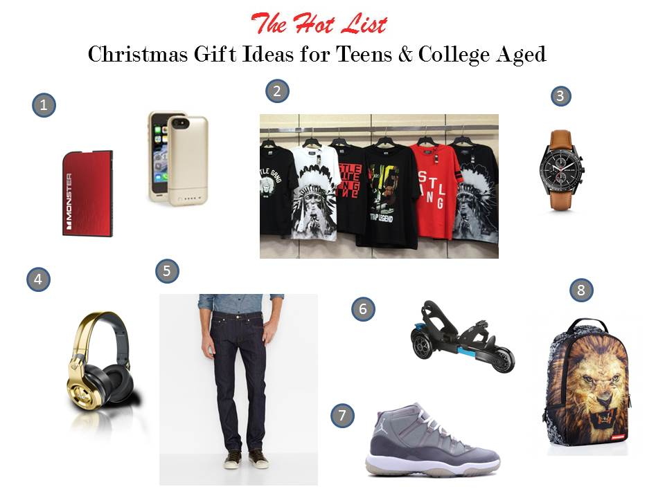 christmas gift ideas for teen and college aged young men - Christmas Lists 2014