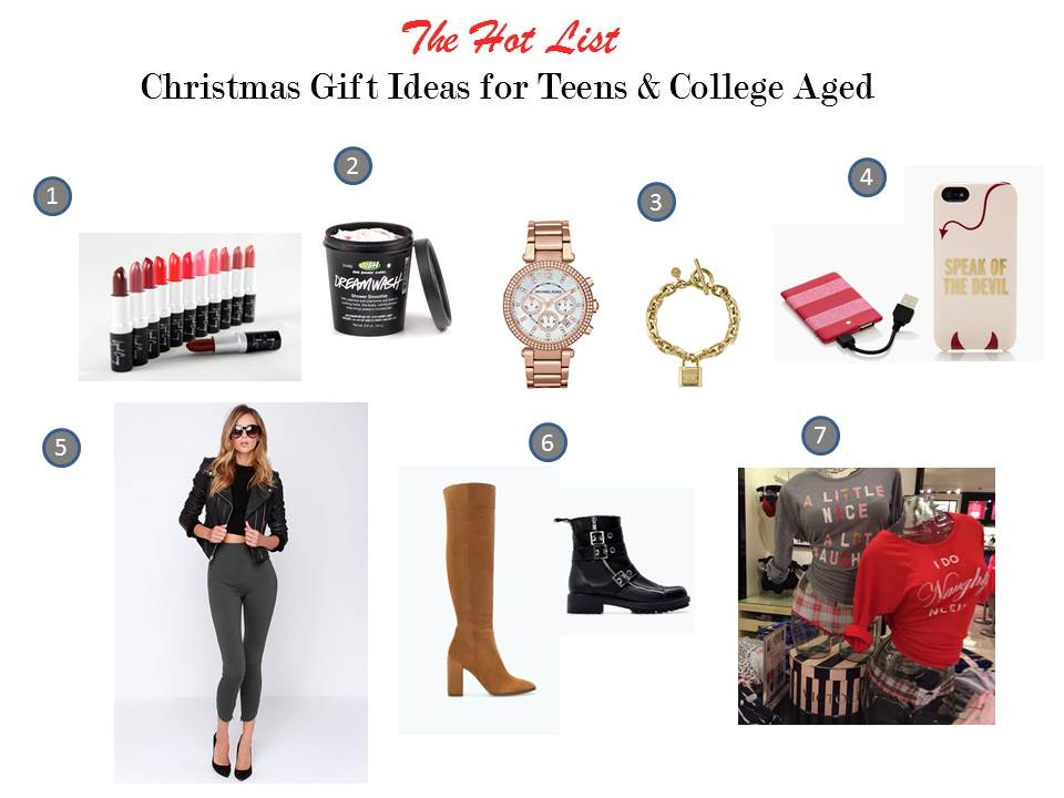 Christmas gift ideas for teen and college aged youn women