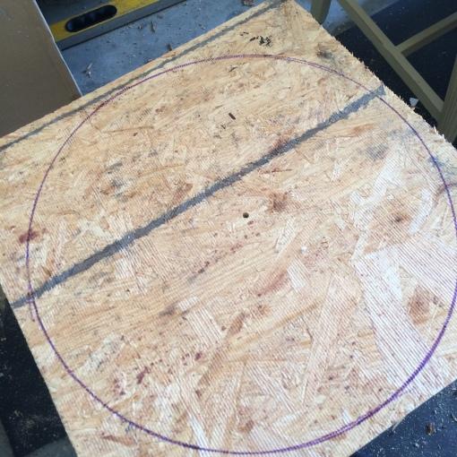 Draw wood circle