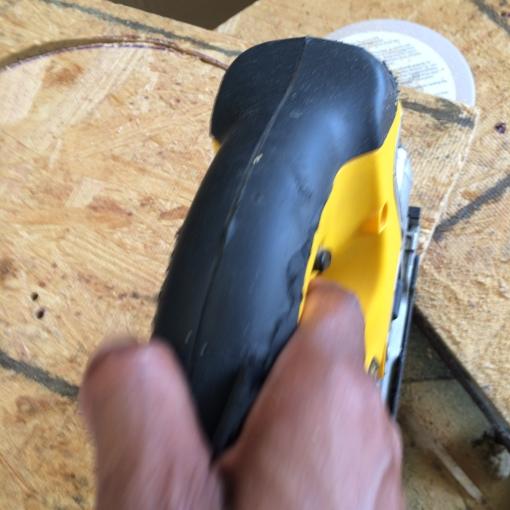 Cutting a wood circle