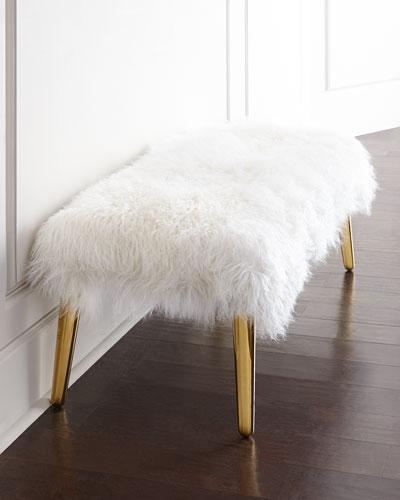 J Adler ottoman w gold legs
