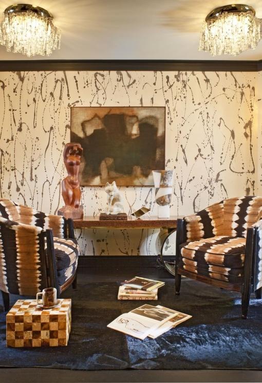 Kelly Wearstler - brown chairs