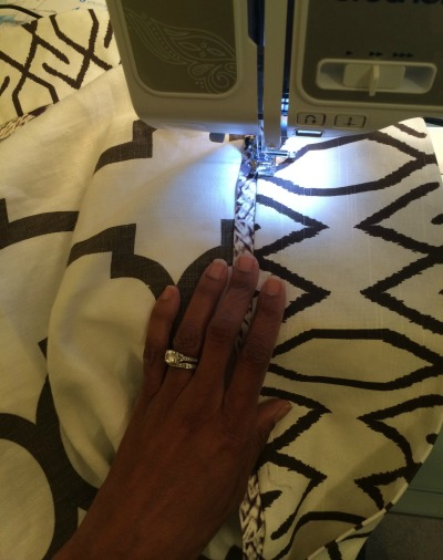 Sewing tablecloth