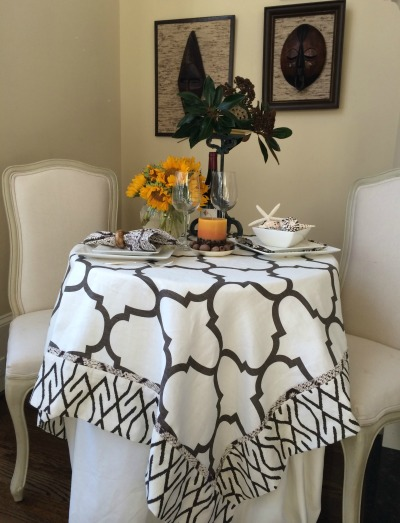 Thanksgiving side tablescape