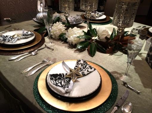 Elle's Christmas dinner table
