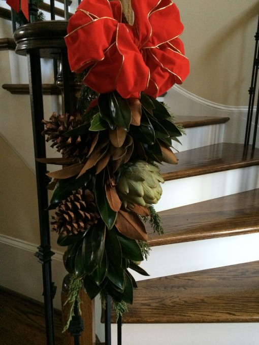 Give Your Stairs Some Swagger – How To Make A Natural Christmas Swag