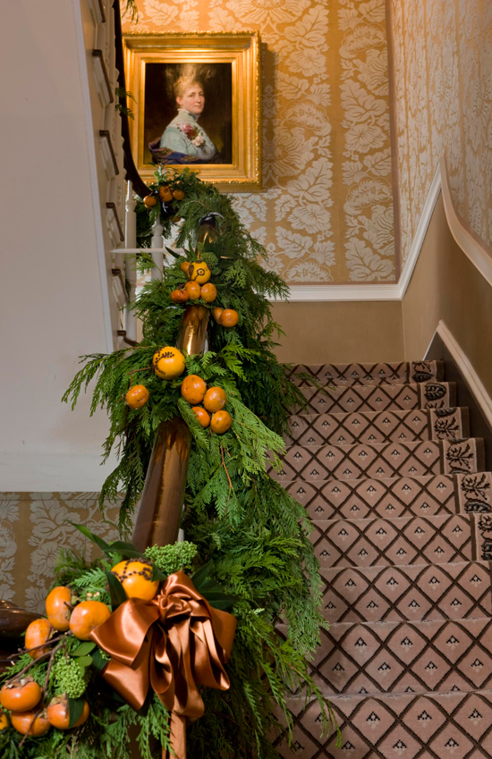christmas decorations stairs & entry - fruit