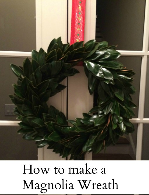 DIY: How To Make A Magnolia Christmas Wreath