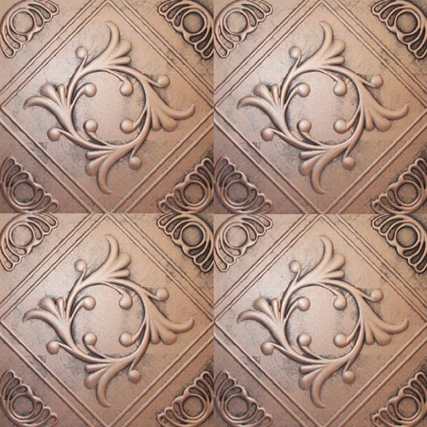 Antique metal ceiling tiles
