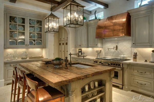 wood copper kitchen accent design | Decorating With Warm Metallics - Copper, Bronze & Gold