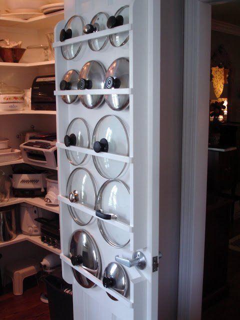 Hang Pot tops on door