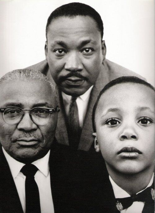 MLK jr with his father and son, Atlanta, Georgia, March 22, 1963. Photo by Richard Avedon