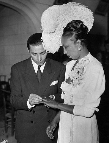 Josephine Baker Getting Married to Joe Buillion1947
