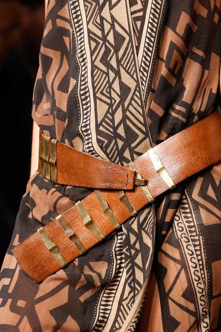 Donna Karan 2014 african inspired belt and jacket