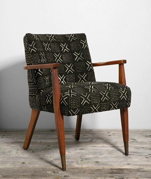 Mudcloth chair mid century modern