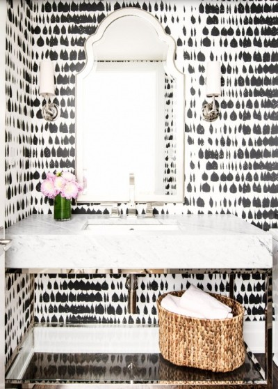 Bathroom wallpapers in Black & White