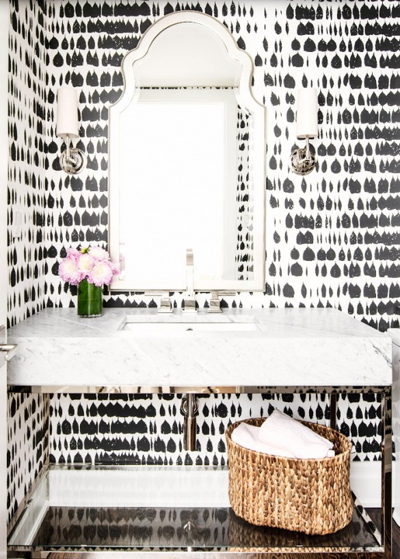 Bathroom Wallpapers In Black U0026 White