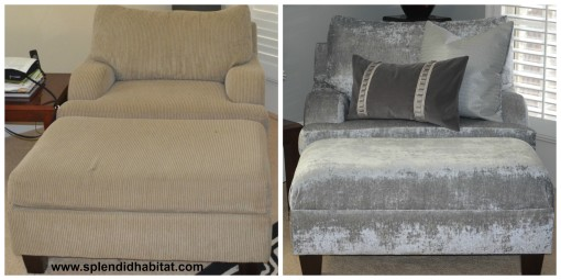 From Drab To Fab: A Chair & Ottoman Remake
