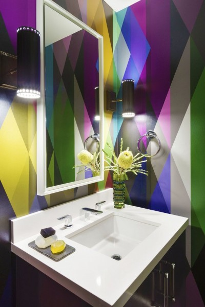 bathroom wallpapers - Circus
