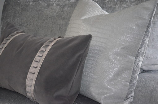 Chair & half after with pillows
