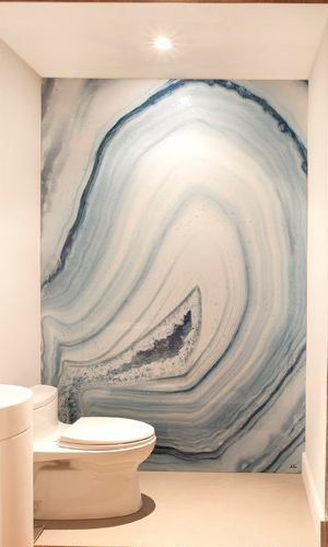 Dkor Interiors Blue Agate Walls