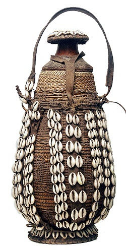 Ethiopian Vessel W Cowrie Shells